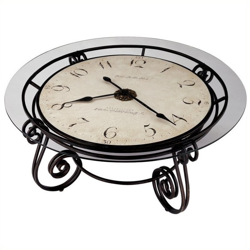 howard miller ravenna round coffee table clock 615010