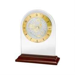 Howard Miller World Time Arch Quartz Table Clock