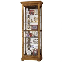Howard Miller Moorland Curio Cabinet in Legacy Oak
