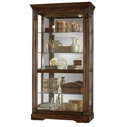 Howard Miller Andreus Curio Cabinet in Tuscany Cherry