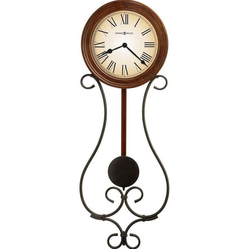 Howard Miller Kersen Wall Clock in Warm Antique Gray and Americana Cherry Finish