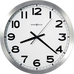 Howard Miller Spokane Wall Clock in Brushed Aluminum Finish