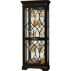 Howard Miller Roslyn Curio Cabinet in Distressed Worn Black