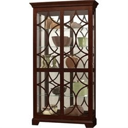 Howard Miller Morriston Curio Cabinet with Light in Chocolate Finish