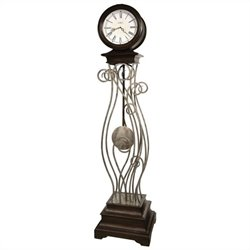 Howard Miller Tennille Floor Clock In Antique Nickel Finish
