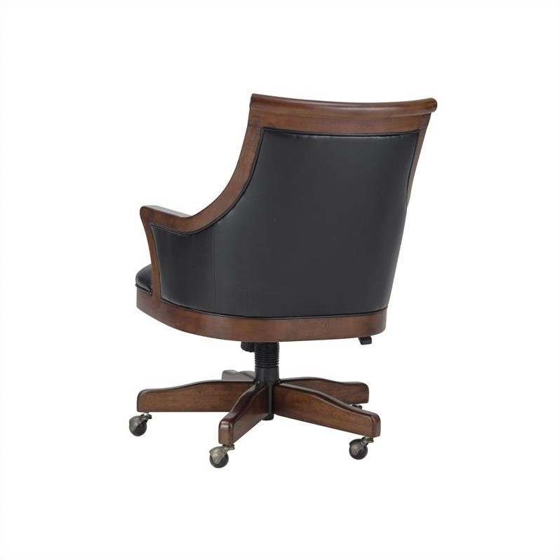 Howard Miller Bonavista Club Office Chair In Rustic Cherry Finish