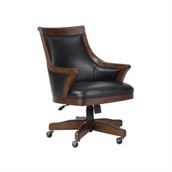 Howard Miller Bonavista Club Chair In Rustic Cherry Finish