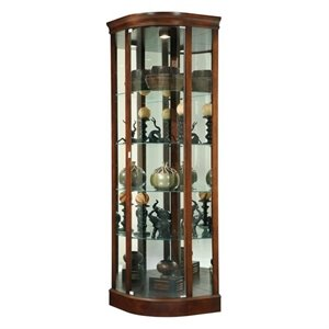 Howard Miller Marlowe Curio Cabinet in Cherry