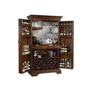 Howard Miller Sonoma Hide A Home Bar Wine Cabinet in Americana Cherry