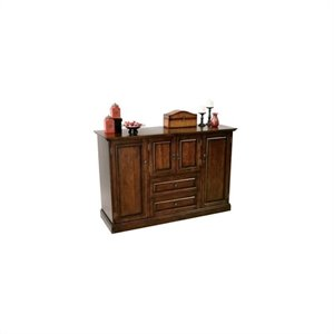 Howard Miller Devino Wooden Hide A Home Bar in Americana Cherry