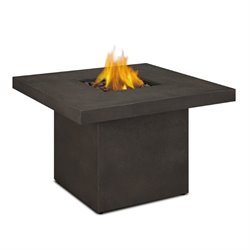 Real Flame Ventura Square Propane Fire Table in Kodiak Brown