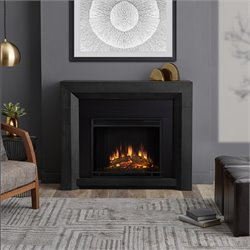 Real Flame Hughes Electric Fireplace in Gray