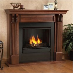 Real Flame Ashley Gel Fuel Fireplace in Mahogany Finish