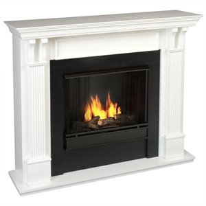 Real Flame Ashley Gel Fuel Fireplace in White Finish