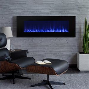 Real Flame DiNatale Wall Mounted Electric Freplace in Black