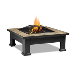 Real Flame Breckenridge Wood Burning Fire Pit in Black