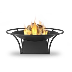 Real Flame Parker Wood Burning Fire Pit in Black
