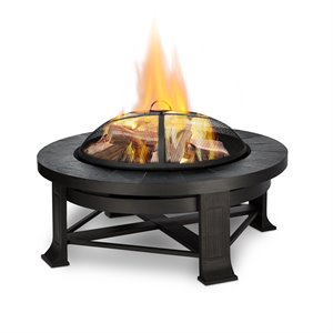 Real Flame Edwards Wood Burning Fire Pit in Gray Tile