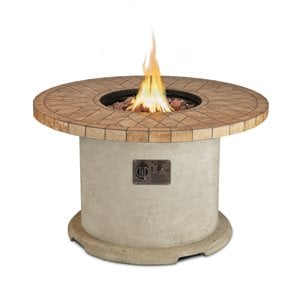Real Flame Ogden Round Propane Fire Pit in Sand