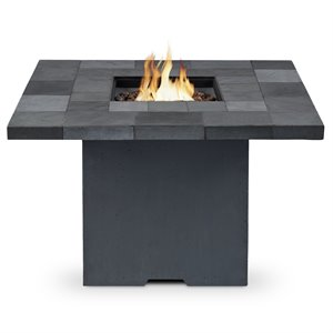 Real Flame Salida Square Propane Fire Pit in Gray
