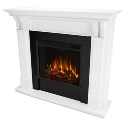 Real Flame Ashley Electric Fireplace in White Finish