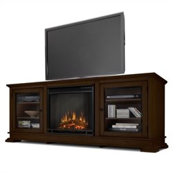 Real Flame Hudson Freestand Electric Fireplace TV Stand in Espresso