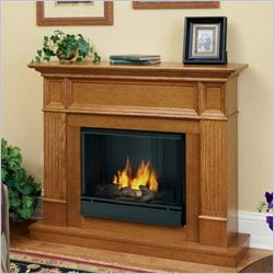 Real Flame Camden Gel Fireplace in Light Oak