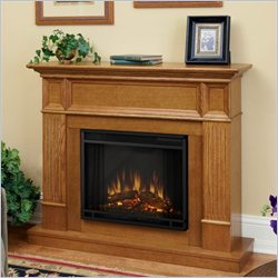 Real Flame Camden Electric Fireplace in Light Oak