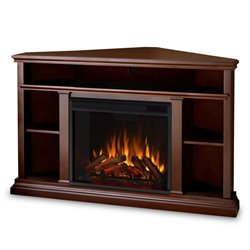 Real Flame Churchill Electric Corner Fireplace in Dark Espresso