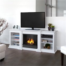 Real Flame Fresno TV Stand Gel Fireplace in White
