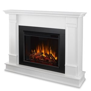 Real Flame Silverton Electric Fireplace in White Finish