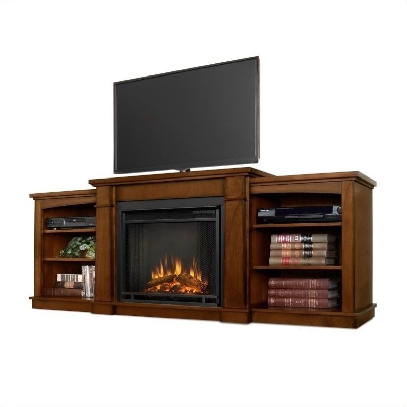 real flame hawthorne electric fireplace tv stand in burnished oak 2222e bo. Black Bedroom Furniture Sets. Home Design Ideas