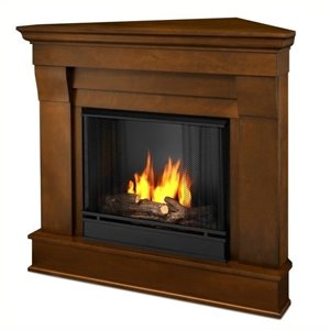 Real Flame Chateau Gel Corner Fireplace in Espresso
