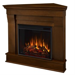 Real Flame Chateau Electric Corner Fireplace in Espresso Finish