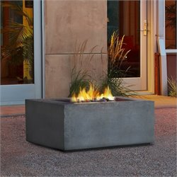 Real Flame Baltic Square Propane Fire Table in Glacier Gray
