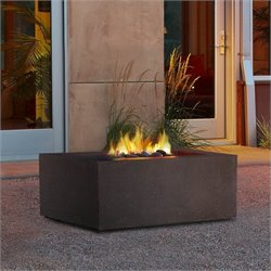 Real Flame Baltic Square Propane Fire Table in Kodiak Brown