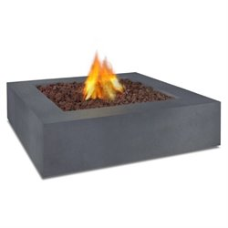 Real Flame Mezzo Square Propane Fire Table in Flint Gray