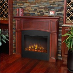 Real Flame Bradford Electric Slim Line Fireplace in Dark Mahogany