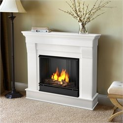 Real Flame Chateau Ventless Gel Fireplace in White Finish