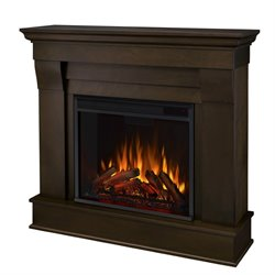 Real Flame Chateau Electric Fireplace in Dark Walnut Finish