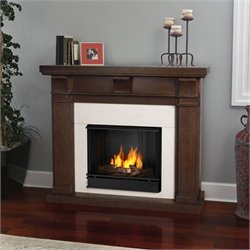 Real Flame Porter Fireplace in Vintage Black Maple Finish