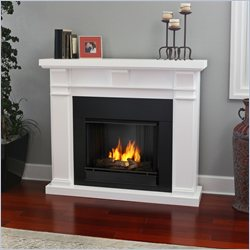 Real Flame Porter Fireplace in White Finish