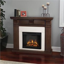 Real Flame Porter Electric Fireplace in Vintage Black Maple Finish