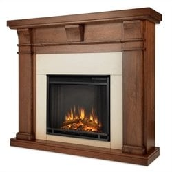 Real Flame Porter Electric Fireplace in Walnut Finish