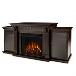 Real Flame Ashley Entertainment Center Electric Fireplace in Dark Walnut