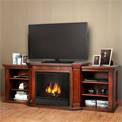 Real Flame Valmont Entertainment Center Gel Fireplace Dark Mahogany
