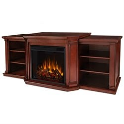 Real Flame Valmont Entertainment Center Electric Fireplace Dark Mahogany
