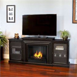 Real Flame Frederick Entertainment Center Gel Fireplace Blackwash