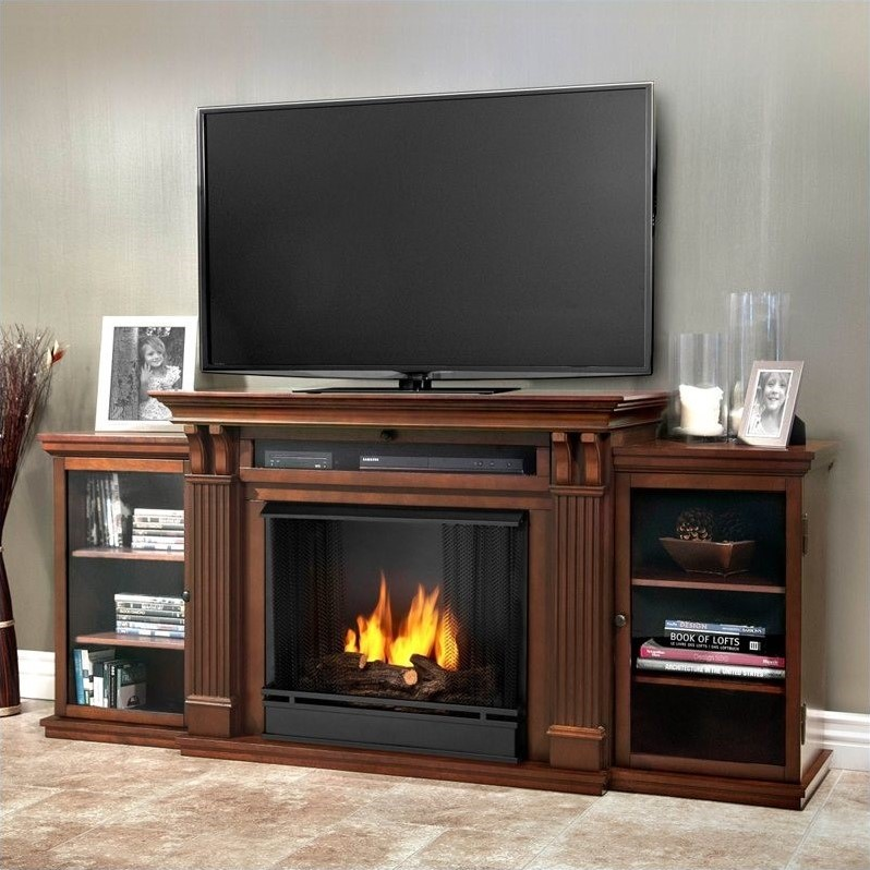 Ashley Ent Center Ventless Gel Fireplace in Dark Espresso
