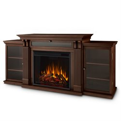 Real Flame Ashley Entertainment Center Electric Fireplace in Dark Espresso
